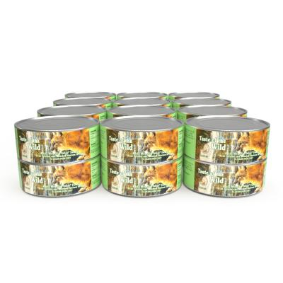 Taste of The Wild Grain Free Rocky Mountain Salmon And Roasted Venison In Gravy Canned Wet Cat Food 24 x 156gm