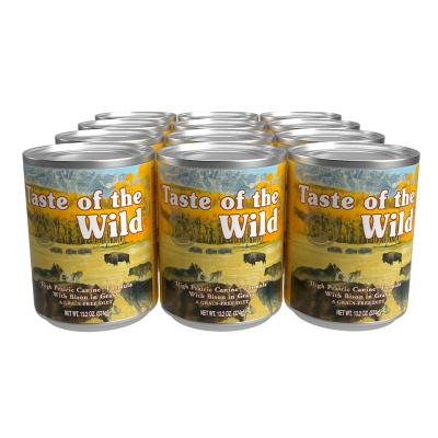 Taste Of The Wild Grain Free High Prairie Bison In Gravy Canned Wet Dog Food 12 x 374gm