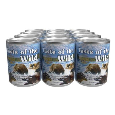 Taste Of The Wild Grain Free Pacific Stream Salmon In Gravy Canned Wet Dog Food 12 x 374gm