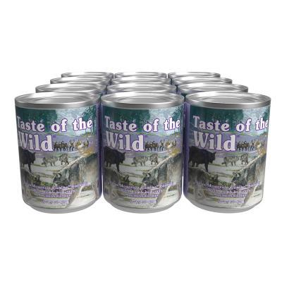 Taste Of The Wild Grain Free Sierra Mountain Lamb In Gravy Canned Wet Dog Food 12 x 374gm