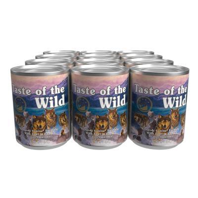 Taste Of The Wild Grain Free Wetlands Fowl In Gravy Canned Wet Dog Food 12 x 374gm