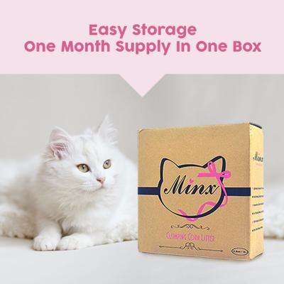 Minx Clumping Corn Cat Litter 1 Month Supply 2.5kg*
