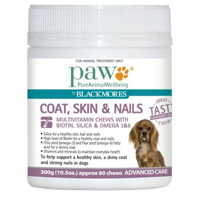 PAW By Blackmores Coat, Skin & Nails Multivitamin Chews For Dogs 300gm