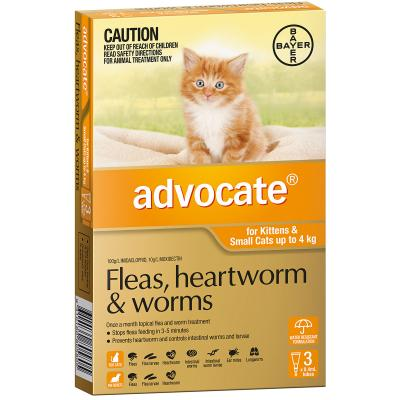 Advocate For Cats And Kittens Small Up To 4kg 3 pack