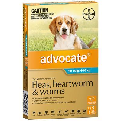 Advocate For Dogs Medium Blue 4-10kg 3 Pack
