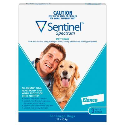 Sentinel Spectrum For Dogs 22-45kg Blue 3 Pack