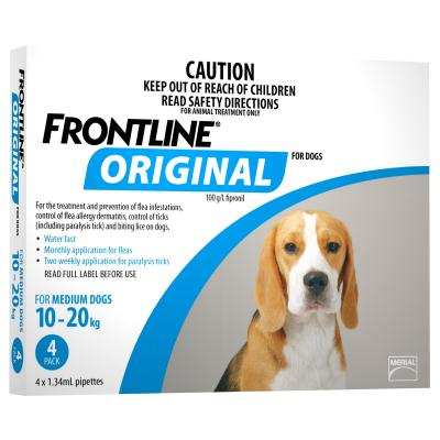 Frontline Original For Medium Dog 10-20kg 4 Pack