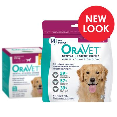 OraVet Dental Chews Large Dogs Over 23kg 14 Days Treatment