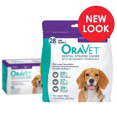 OraVet Dental Chews Medium Dogs 11-23kg 28 Days Treatment