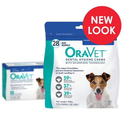 OraVet Dental Chews Small Dogs 4.5-11kg 28 Days Treatment
