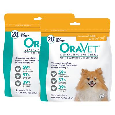 Oravet Dental Chews Extra Small Dogs Up To 4.5kg 56 Days Treatment (2 x 28)