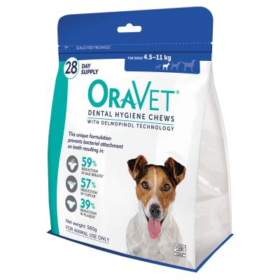 OraVet Dental Chews Small Dogs 4.5-11kg 56 Days Treatment (2 x 28)