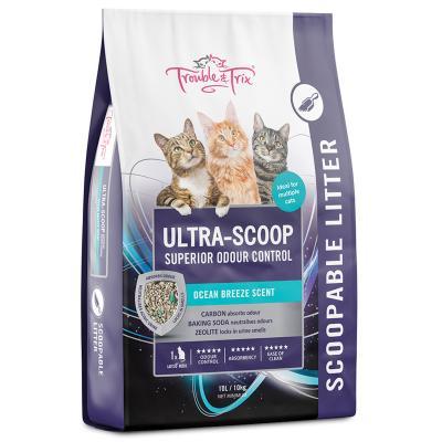 Trouble & Trix Ultra Scoop Ocean Breeze Clumping Cat Litter 10L / 10kg