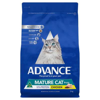 Advance Chicken Mature 8+yrs Dry Cat Food 3kg