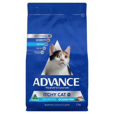Advance Itchy Cat Ocean Fish Adult Dry Cat Food 2kg