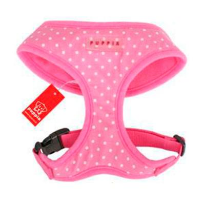 Puppia Dotty Harness Pink Small 23-25cm Neck x 33-48cm Girth For Dogs
