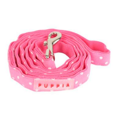 Puppia Dotty Lead Pink Large For Dogs 1400 x 20mm