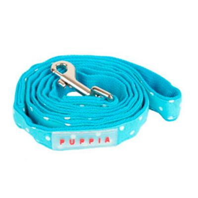 Puppia Dotty Lead Sky Blue Medium For Dogs 1200 x 15mm
