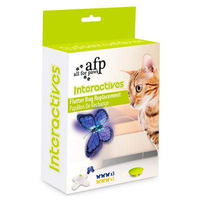 AFP Interactives Flutter Bug Refill For Flutter Bug Butterfly Toy For Cats (6 Pack)