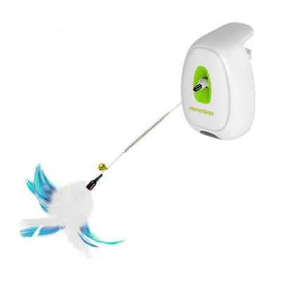 AFP Interactives Jumping Feather Wand Motion Activated Toy For Cats