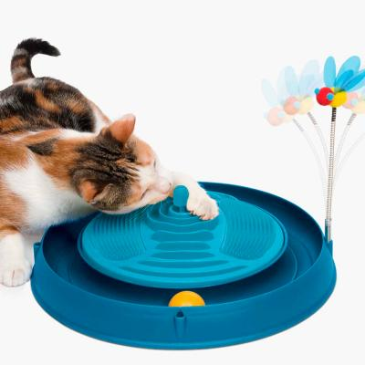 Catit Play 3 in 1 Circuit Ball Toy With Catnip Massager And Bouncy Bee Toy For Cats