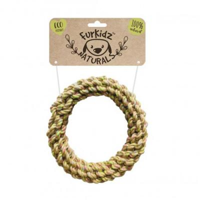 Furkidz Natures Choice Jute Ring Natural Rope Toy For Dogs 18cm