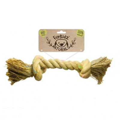 Furkidz Natures Choice Jute Knott Natural Rope Toy For Dogs 37cm