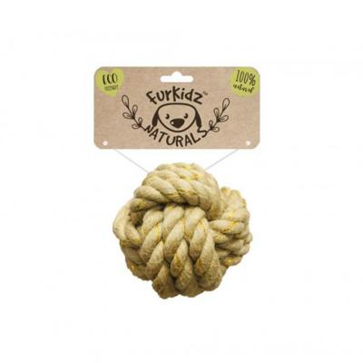 Furkidz Natures Choice Jute Ball Natural Rope Toy For Dogs 7cm