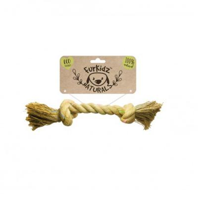 Furkidz Natures Choice Jute Knott Natural Rope Toy For Dogs 33cm