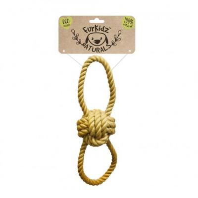 Furkidz Natures Choice Jute Ball Tugg Natural Rope Toy For Dogs 36cm