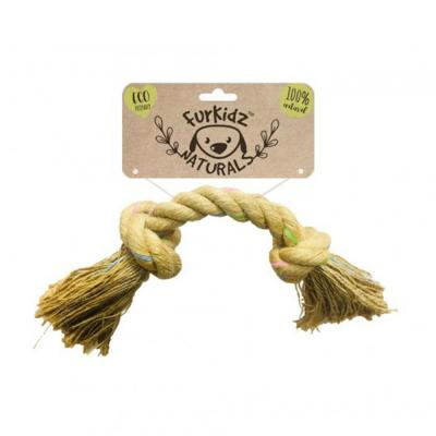 Furkidz Natures Choice Jute Knott Natural Rope Toy For Dogs 42cm