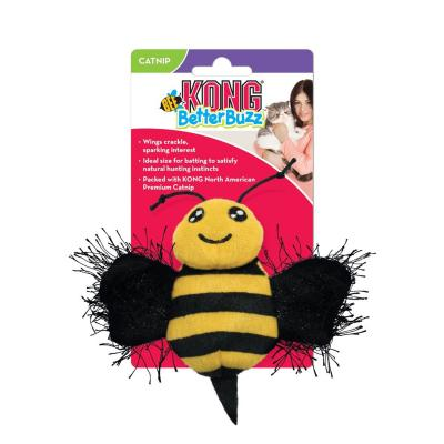 KONG Better Buzz Bee Crinkle Sparkle Catnip Toy For Cats