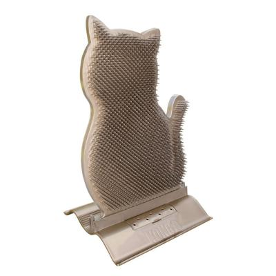 KONG Connects Kitty Comber Doorstop Self Grooming Comb With Catnip For Cats