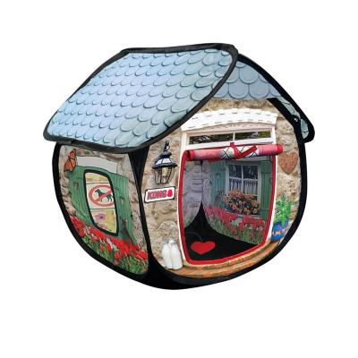 KONG Play Spaces Bungalow Collapsible Hideaway House Toy For Cats
