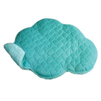 KONG Play Spaces Cloud Plush And Satin Double Sided Crinkle Catnip Portable Spa Mat Toy For Cats