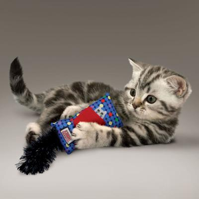 KONG Refillable Kickeroo Cuddly Play Plush Catnip Toy For Cats