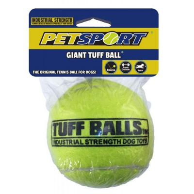 Tuff Giant Tennis Ball Nonabrasive Felt Toy For Dogs 10cm 1Pack