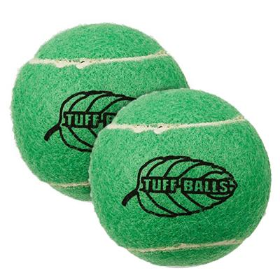 Tuff Mint Tennis Ball Nonabrasive Felt Toy For Dogs 6cm 2Pack