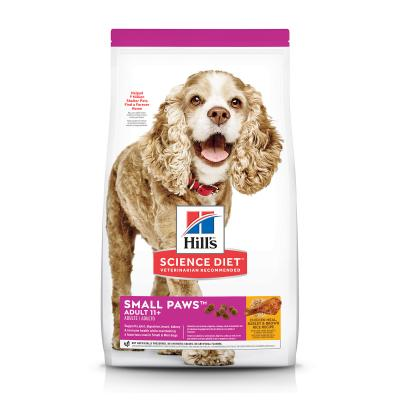 Hills Science Diet Small Paws Chicken Meal Barley Brown Rice Recipe Small/Toy Breed 11+ Mature/Senior Dry Dog Food 2.04kg (2533)