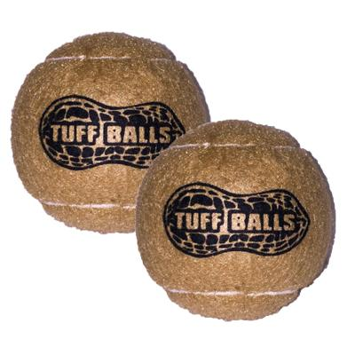 Tuff Peanut Tennis Ball Nonabrasive Felt Toy For Dogs 6cm 2Pack