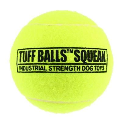 Tuff Squeak Tennis Ball Nonabrasive Felt Toy For Dogs 6cm 1Pack