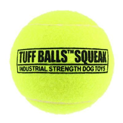 Tuff Squeak Tennis Ball Nonabrasive Felt Toy For Dogs 6cm 1Pack
