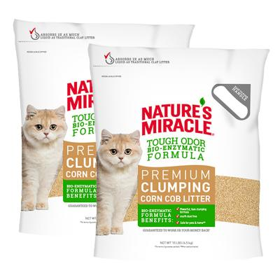 Natures Miracle Premium Clumping Corn Cob Litter 9kg