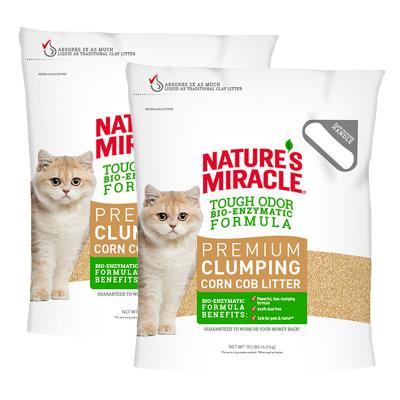 Natures Miracle Premium Clumping Corn Cob Litter 9kg