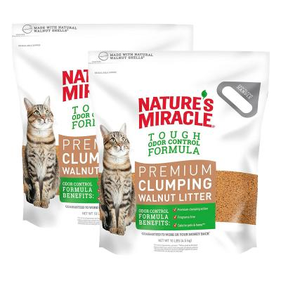 Natures Miracle Premium Clumping Walnut Cat Litter 9kg