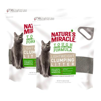 Natures Miracles Lightweight Clumping Clay Cat Litter 9kg