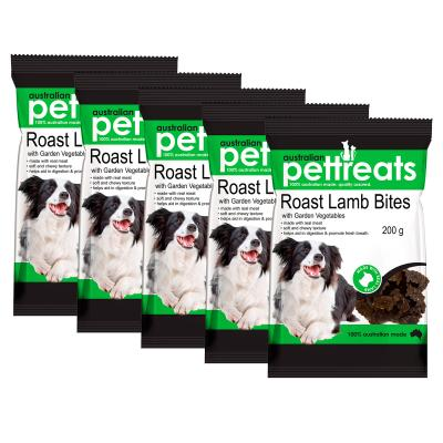 Australian Pettreats Bites Roast Lamb With Garden Vegetables Treats For Dogs 1kg
