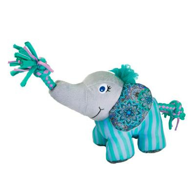 KONG Knots Carnival Elephant Plush Squeak Small Medium Toy For Dogs