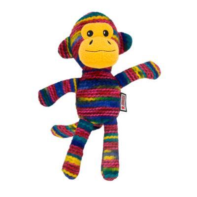 KONG Yarnimals Monkey Plush Squeak Small Medium Toy For Dogs