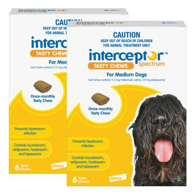 Interceptor Spectrum For Dogs 11-22kg Yellow 12 Chews